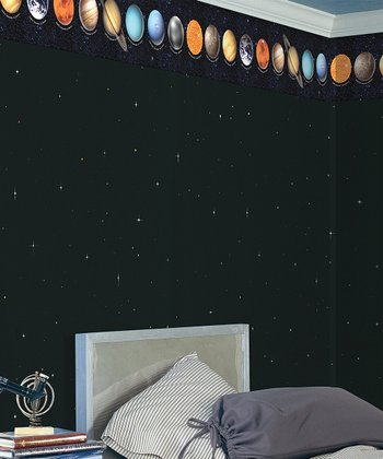Brewster Home Fashions Cosmo Multi Planets Border