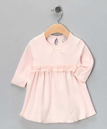 Pink & Natural Round Vintage Dress - Infant