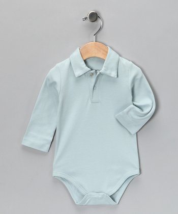 Blue Vintage Polo Bodysuit - Infant