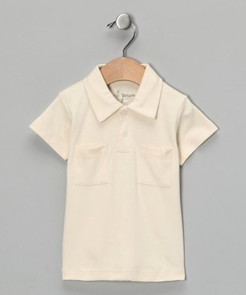 Natural Vintage Collar Polo - Infant
