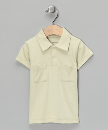 Sage Vintage Collar Polo - Infant