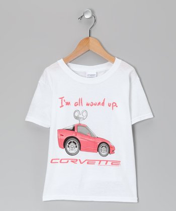White 'All Wound Up' Corvette Tee - Kids