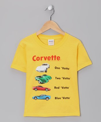 Yellow '1 Vette 2 Vette' Tee - Toddler & Boys
