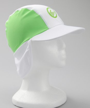 White & Green Flappy Floppy Hat
