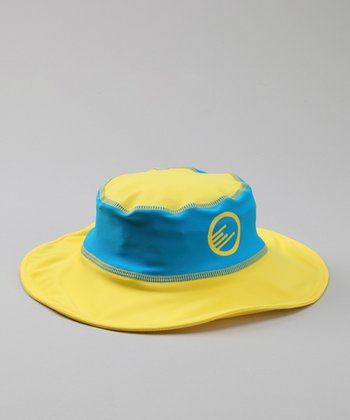 Lake Blue & Yellow Floppy Bucket Hat