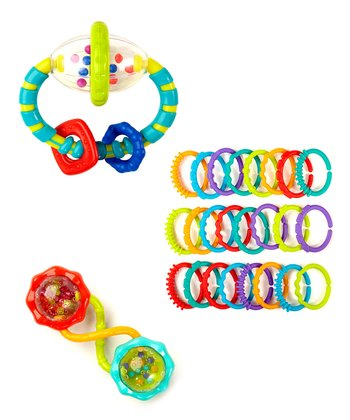 Green Playtime Fun Teething Set