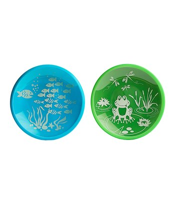 & Blue School of Fish & Froggie Field Day Plate Set