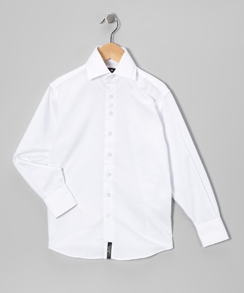 White Button-Up - Boys