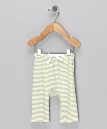 Green Stripe Organic Pants - Infant