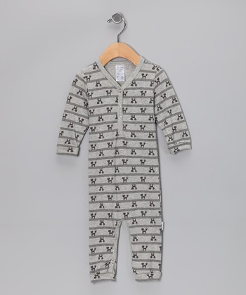 Gray Foxy Organic Playsuit - Infant