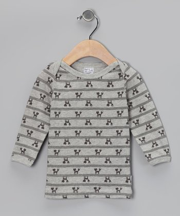 Gray Foxy Organic Tee - Infant & Toddler
