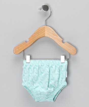 Light Blue Cockerel Organic Diaper Cover - Infant