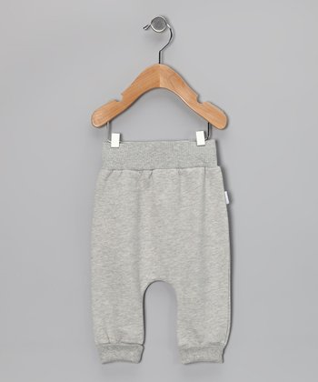 Gray Organic Wool Harem Pants - Infant & Toddler