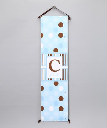 Blue Polka Dot Growth Chart