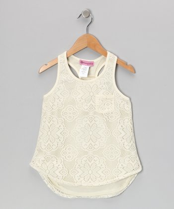 Winter White Crochet Tank