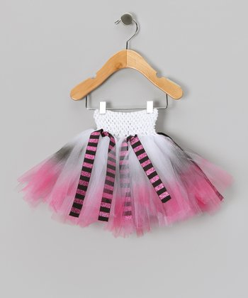 Pink & Black Glitter Ribbon Tutu - Infant, Toddler & Girls