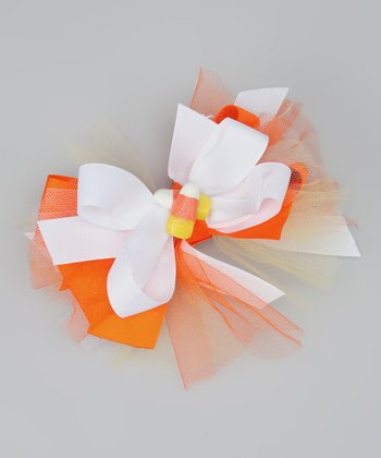 Orange & White Candy Corn Clip