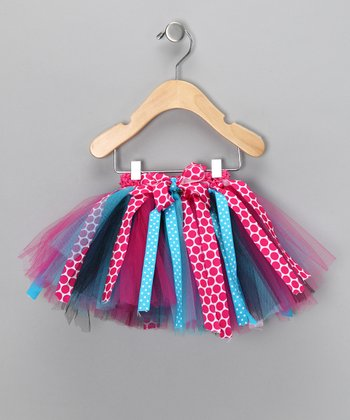 Pink & Turquoise Polka Dot Tutu - Infant, Toddler & Girls