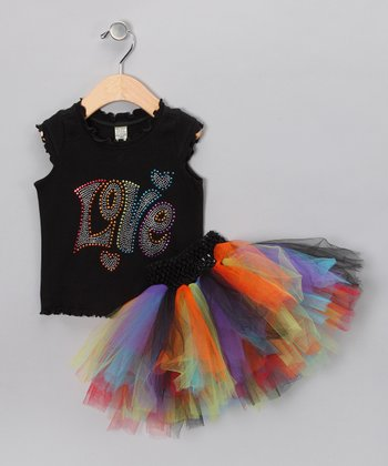 Rainbow 'Love' Tank & Tutu - Infant, Toddler & Girls