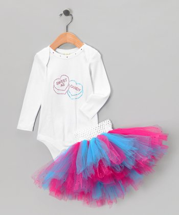 Pink & Blue 'Sweet as Candy' Bodysuit & Tutu - Infant