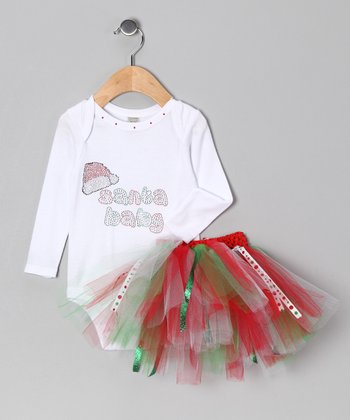 Red & Green 'Santa Baby' Bodysuit & Tutu - Infant & Toddler