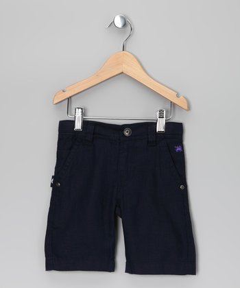Navy Linen Pants - Toddler & Boys