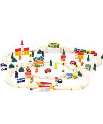 Conductor Carl Wooden Train Set