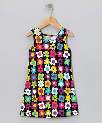 Black Fab Floral Fit & Flare Dress - Infant, Toddler & Girls