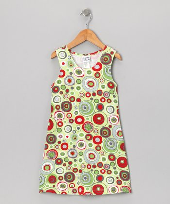 Green Frosty Swirl Fit & Flare Dress - Infant, Toddler & Girls