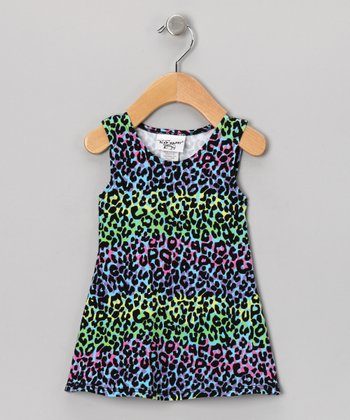 Green Kouture Kitty Fit & Flare Dress -  Toddler