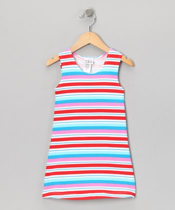 Peppermint Stripe Fit & Flare Dress - Infant & Toddler