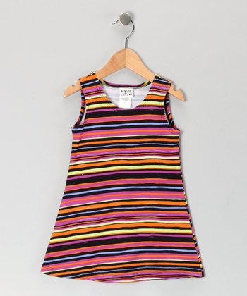 Black Wizard Stripe Fit & Flare Dress - Infant, Toddler & Girls