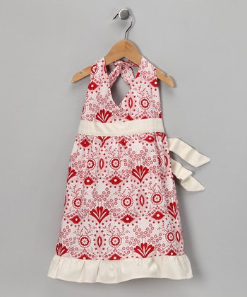 Strawberry Lane Halter Dress - Toddler & Girls