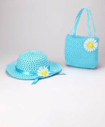 Blue Daisy Sunhat & Tote