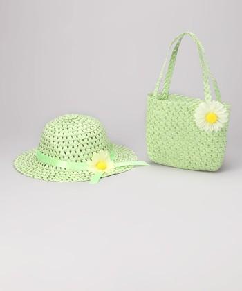 Green Daisy Sunhat & Tote