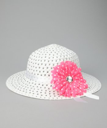 Hot Pink Flower Sunhat