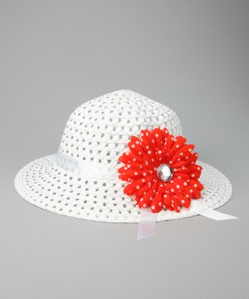 Red Flower Sunhat