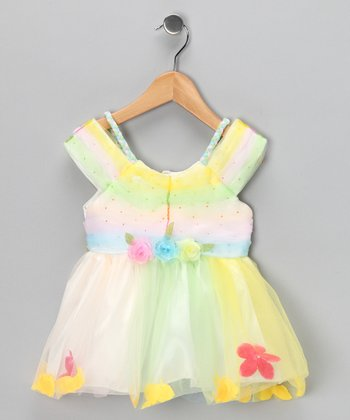 Pastel Yellow Flower Dress - Infant