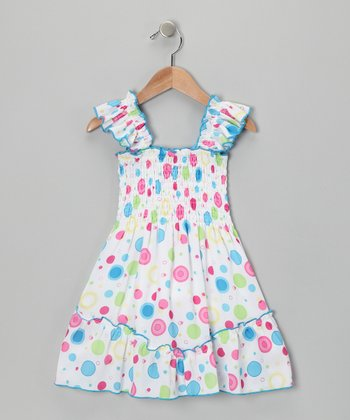 Blue Circle Summer Dress - Toddler & Girls