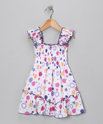 Purple Circle Summer Dress - Toddler & Girls