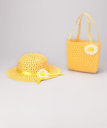 Bubblegum Diva Yellow Sunhat & Tote