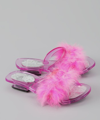 Bubblegum Diva Hot Pink Cinderella Jelly Sandal