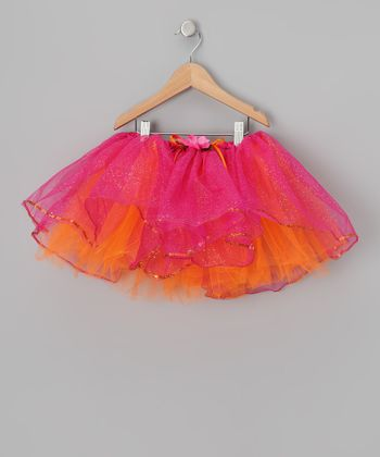 Fuchsia & Orange Sequin Tutu