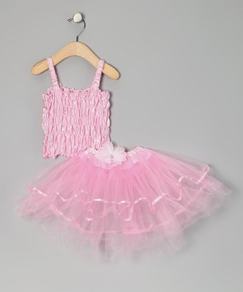 Pink Crinkle Top & Tutu - Toddler & Girls