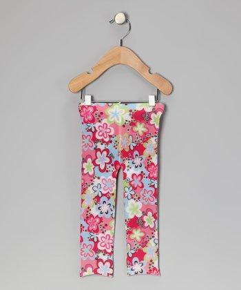Bubblegum Diva Rainbow Floral Leggings - Toddler & Girls