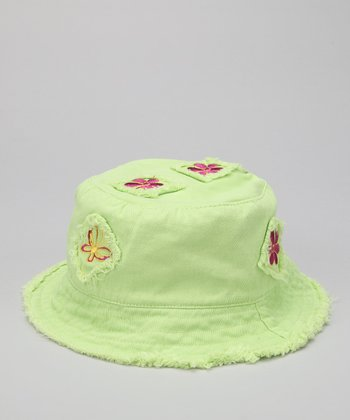 Lime Butterfly Patch Sunhat