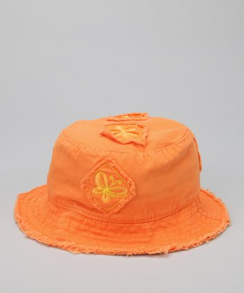 Orange Butterfly Patch Sunhat