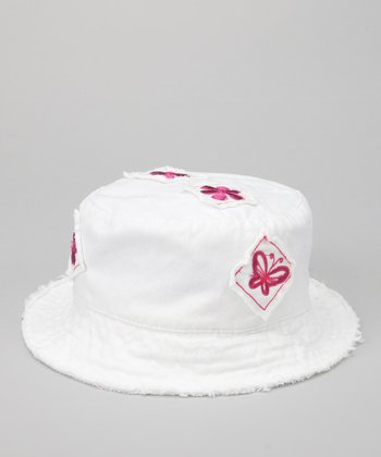 White Butterfly Patch Sunhat