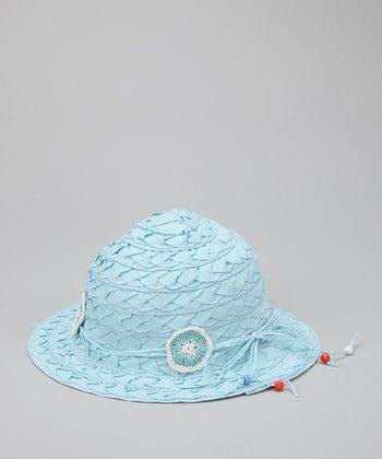 Blue Flower Weave Sunhat
