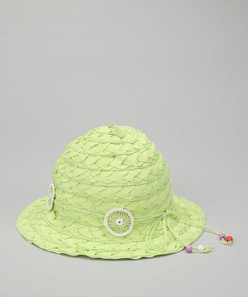 Lime Flower Weave Sunhat
